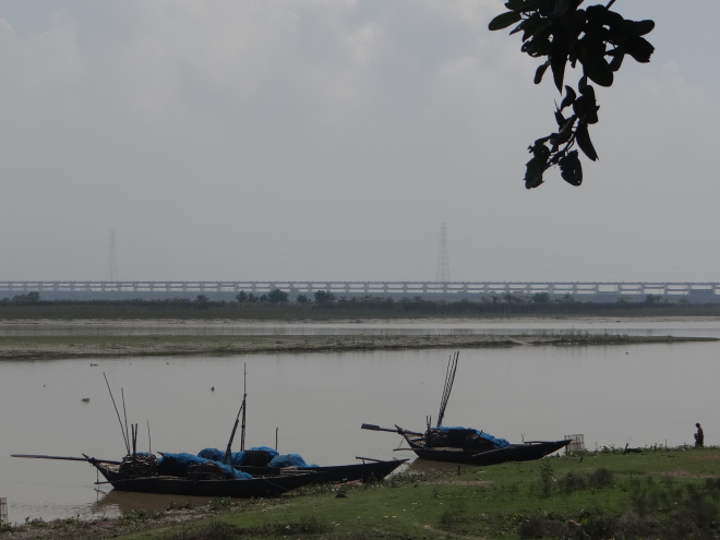 Silt Islands just upstream the Barrage. Photo: Parineeta Dandekar, SANDRP